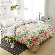 Hot Luxury Flowers Bedding Set 1 Piece Duvet Cover with Zipper Quilt Cover Blanket/Comforter Cover Twin Full Queen King Size(China)