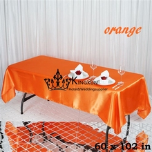 "Orange Color 60""*102""  Wedding Table Cloth \ Rectangular Satin Table Cloth 10PCS Free Shipping"