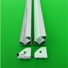 10pcs/lot  DHL 40inch 1m led bar light  , led corner aluminium profile matte clear cover,45 degree alu channel with rigid strip