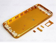 GOLD Replacement metal back housing for apple iphone 5 battery cover door 10pcs/a lots free shipping rear housing case