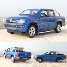New Volkswagen Amarok Model 1:32 Alloy Truck Model Fast&Fruious High Simulation Exquisite Collection Toys Caipo Car Styling Gift
