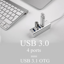 Mini USB Hub USB 3.0 of 4 Ports Adapter for PC Laptop Peripherals Accessories OTG USB Hub Adapter
