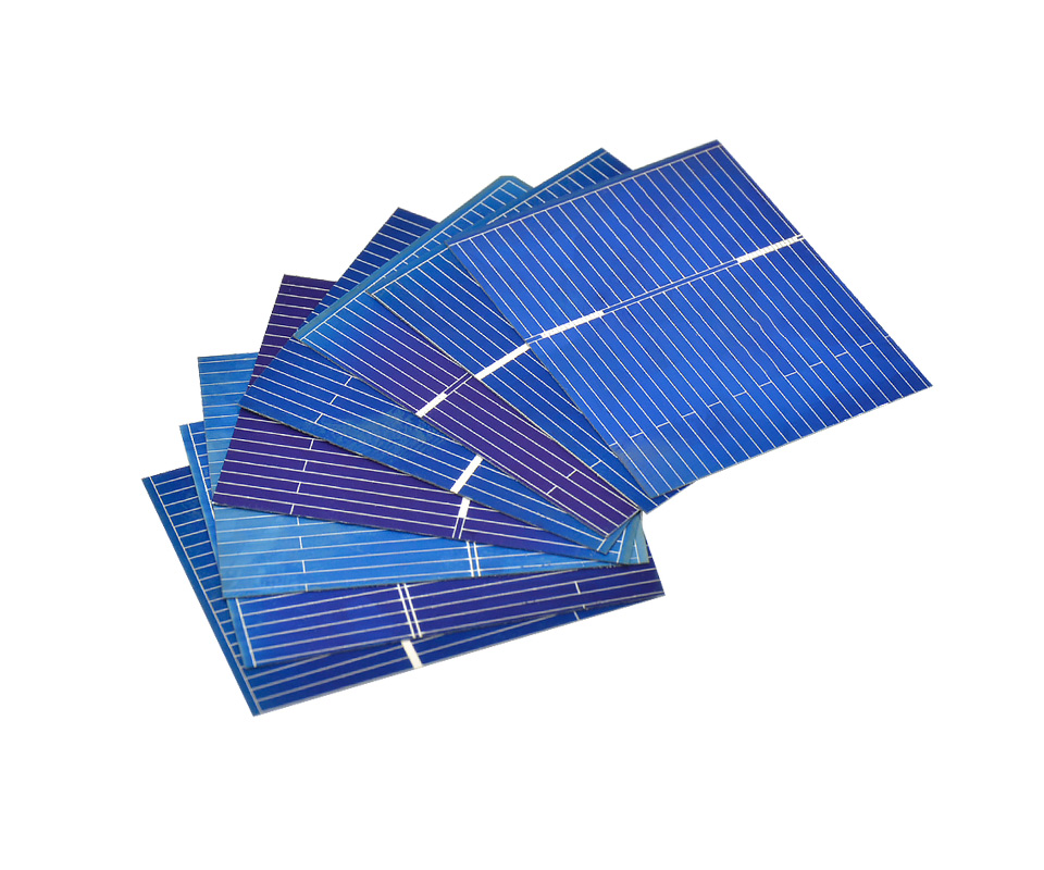 Aoshike 100pcs Polycrystalline Solar Panel 39*31.2mm 0.5V 0.2W Solar Battery Silicon DIY Solar Charger Battery Painel Solar 5