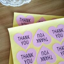 "120pcs  Vintage ""Thank you"" series romatic Heart design Paper Sticker for Handmade Products"