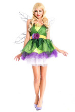 Halloween costumes for kids Elves tinkerbell costume queen party dress anime cosplay tinkerbell dress for girls with Wings