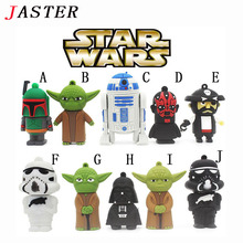 JASTER Hot sale cartoon usb flash drive 4GB 8GB 16GB 32GB New star war robot all styles USB 2.0 Pen Drive pendrive u disk