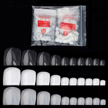 500Pcs False Fake Artificial Toe Nails Tips French Foot Tips Acrylic Professional Nail Art Decor Full Cover Toenails Manicure(China)