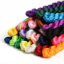 24M Mix Color Shamballa Bracelet Thread 1mm Polyester Cord Chinese Knot Macrame Rattail Cord For DIY Fashion Jewelry Findings
