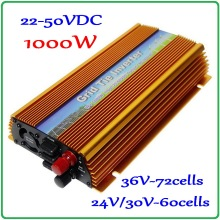 1000W 22-50VDC MPPT Grid Tie Inverter 30V/36V DC to AC 220V or 110V Pure Sine Wave Output solar wind on grid inverter(China)