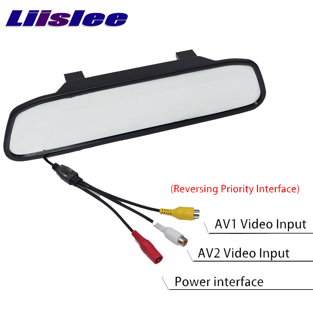 Liandlee 4.3inch Universal HD Car Rearview Mirror Display LCD Digital DVD VCD Car Rearview Mirror Display Monitor video input (5)