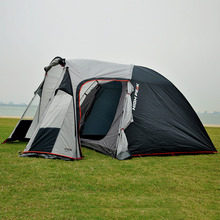 3-4 Person 2 Rooms Beach Tent Durable Family Large Camping Party Tente Outdoor Windproof Waterproof Double Layer Tienda ZP44