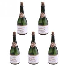 5Pcs Plastic Material Bride and Groom Wedding Party Champagne Bottle Shape DIY Self Watering Bubble Bottles Wedding Supplies