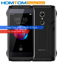 Moscow offline pavilion HOMTOM HT20 IP68 Smartphone 4G Android 6.0 Quad Core MT6737 4.7 Inch 2GB+16GB Dual Cams MobilePhone(China)