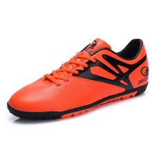 Newest Mens Football Boots Soccer Shoes Black/Orange/Green Turf Football Shoes For Men Leather Soccer Cleats Sport Sneakers