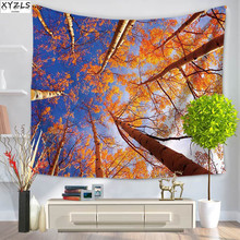 XYZLS Polyester Landscape Wall Tapestry Rectangle Thickset 150*130 150*200cm Beach Towel Yoga Mat Shawl Blanket Sofa Cover(China)