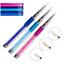 7/9/11mm Nail Art Brush Painting Flower Drawing Line Pen Crystal Rhinestone Metal Acrylic UV Gel Polish Tip Design Tool Manicure