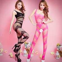Women's hollow out Sexy Lingerie Sexy Bodystockings temptation Open Crotch Bodysuits Sex toys Single Shoulder Whole body socks