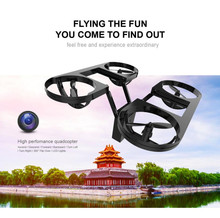 Foldable Selfie RC Drone with Wifi FPV 720P HD Camera 2.4G 4CH 6-Axis Drones Pocket Phone Remote Control Helicopter Quadcopter(China)