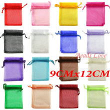 Free Shipping 100PCS Mix Jewelry Packing Drawable Organza Bags Wedding Gift Bags 9CMX12CM(W03208)(China)