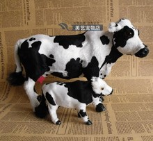 simulation cow toy model polyethylene& fur dairy cow handicraft, prop,home Decoration xmas gift b3530