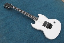 2017 New + Factory + chibson sg custom guitar single pickup / knob SG guitar Angus young model Snow White GB SG electric guitar(China)