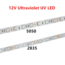 UV led strip 395-405nm Ultraviolet 2835/3528 5050 SMD 60led/m Flexible Ribbon String tape lamp 12V for DJ Fluorescence party
