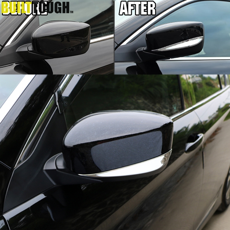 For Jeep Compass 2017-2019 Rearview Side Door Mirror Cover Strip Trim Molding