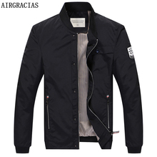 AIRGRACIAS 2017 Autumn Brand Man Jacket Men Clothes High Quality Polyester Casual Mens Jackets Coats 3 Colors Overcoat 821