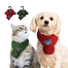 Warm Winter Pet Dog Scarves Small Puppy Chihuahua Yorkie Bow Tie Dogs Collars Cat Christmas Scarf Grooming Accessories For Pets(China)