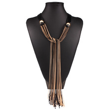 Buy SUPIN Fashion Vintage Retro Long Sweater Chain Leather Multi Tassel Alloy Necklace Jewelry Clothes Accessories Necklace Women for $8.49 in AliExpress store