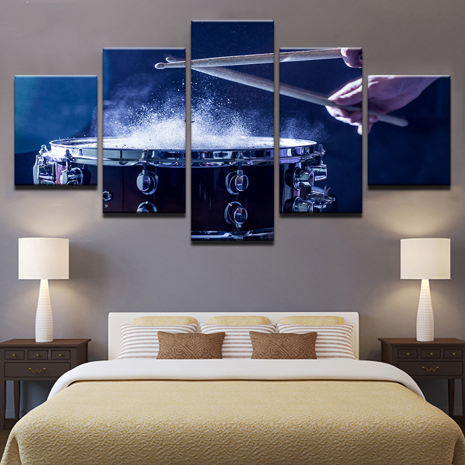 Wall-Art-Canvas-Paintings-Modular-Home-Decor-HD-Prints-5-Pieces-Drums-Pictures-Musical-Instruments-Posters (1)