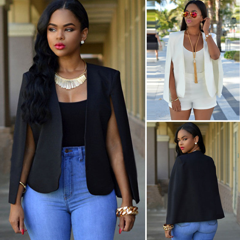 2019 New Fashion Women Ladies Black Blazer Formal Jacket Womens
