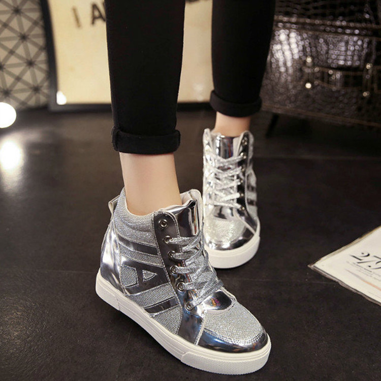 Height Increasing 2017 spring Shoes Womens Causal Shoes Sport Fashion Walking Shoes for Women Swing Wedges Shoes Breathable<br><br>Aliexpress