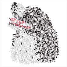 2pc/lot Rough Collie Dog  hot fix rhinestone transfer motifs iron on design rhinestone applique patch  for shirt