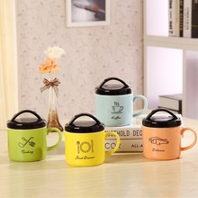 New arrival KEYAMA 1pcs CreativeJapanese-style rice cooker ceramic breakfast milk mugs Couples coffee cups Cute holiday gifts
