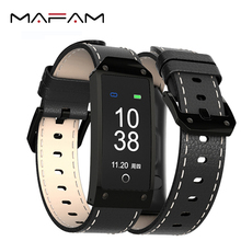 MAFAM Y2 Smart Wristband 0.96 inch Color LCD Smart Bracelet Bluetooth Heart Rate Blood Pressure Test Smartband(China)