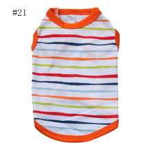 New Pet Dog clothes Vest Stripe pattern Cheap Cotton dog clothes Brand T Shirt Summer dog Clothes For Teddy Chihuahua 14 designs