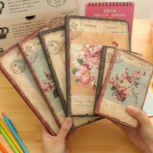 1pc Korea Cute Stationery European Retro Cloth Cover DIY Diary Book Cute Notebook Vintage Notebook(China)