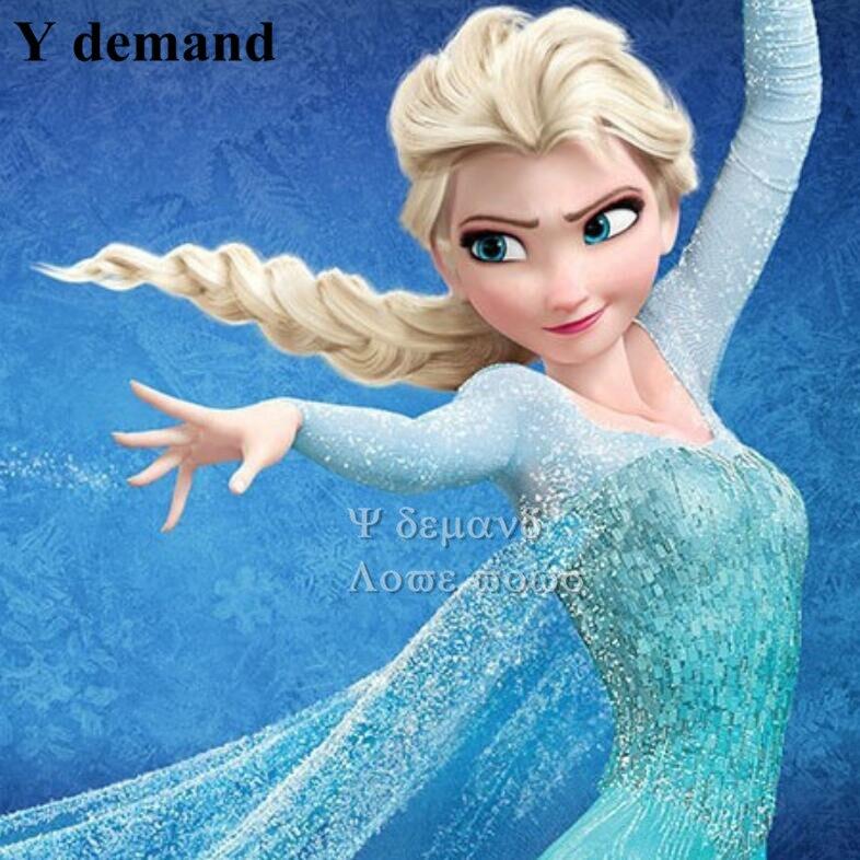 Popular cartoon girl Hair Wigs children Cosplay Wigs Elsa / Anna wig princess white fluffy long hair<br><br>Aliexpress