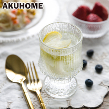 Old Fashioned Glass Cup European Cocktail White Spirits Beer Juice Crystal Goblet Sunflower Glass Cup