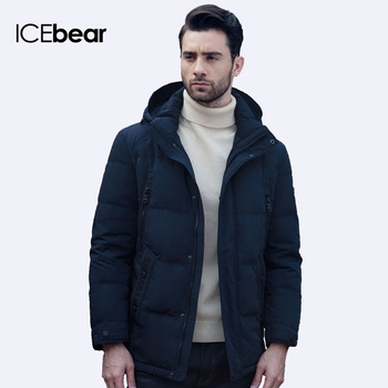 ICEbear 2016 Четыре Цвета Известная Марка Одежды Зима Полиэстер Мужчины парка Снег Высокого Качества Короткая Куртка Пальто 16M011D