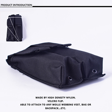 High Quality Nylon Molle P90 Double UMP Magazine Pouch Mag Bag Airsoft Outdoor Camouflage Tactical Bag