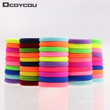 20pcs/lot Candy Fluorescence Colored Hair Holders High Quality Rubber Bands Hair Elastics Accessories Girl Women Tie Gum(China)