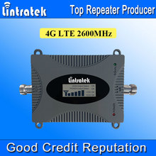 Lintratek Powerful 4G Repeater FDD 4G LTE 2600MHz Signal Booster Band 7 2600MHz LCD Display 4G Mobile Signal Booster NEW 2017 /