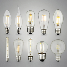 LED Filament bulb E27 E14 base Warm white Edison light bulbs 3000K Squirrel Cage Vintage style replace Incandescent lamp - TOPTO ELECTRONIC store