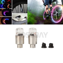 POSSBAY 2PCS Car Bike Motorcycle Tire Tyre Wheel Neon LED Valve Cap Stem Lights Colorful Car Styling