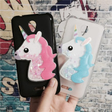Buy 3D Unicorn Quicksand Liquid Soft Silicone Case Lenovo A5000 Phone Cover Cartoon Diamond Funda Coque Fashion Owl Capa for $3.46 in AliExpress store