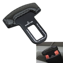 Universal Carbon Fiber Car Safety Seat Belt Buckle Clip Black