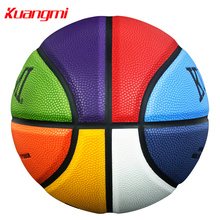 Kuangmi PU Leather Basketball Size 5 Size 6 Size 7 Basketball Indoor&Outdoor Basketball Men Women Children Youth Game Training