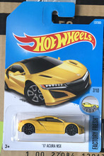 2017 New hot 1:64 car wheels yellow ACURA NSX car Models Metal Diecast Car Collection Kids Toys Vehicle Juguetes
